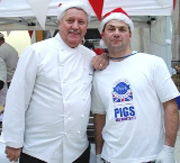 TV Chef Brian Turner at a hog roast event